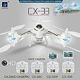 DRONE CX-33W-TX 2.4G Tricopter 720P HD Camera WIFI FPV