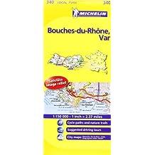 Bouches-du-Rhône, Var  340 - Carte ville loc.