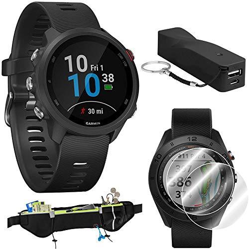 Garmin Forerunner 245 GPS Music Sport Watch (Black) with Portable Power Bank Bundle