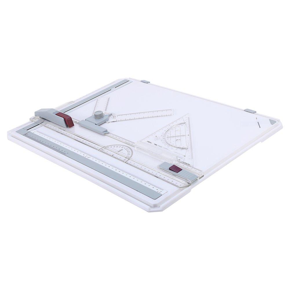 Tavolo da disegno - Tavolo da disegno professionale per architetto A3 con regole chiare Parallel Motion e angolo di misurazione regolabile per Graphic Art Art Design Jadeshay