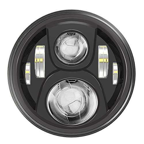 black harley davidson headlight - 7