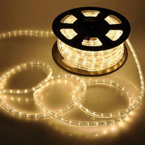 Eco Christmas Decorations - PELA BRAND NAME 150' Feet LED Rope Lights Warm White Color 1/2