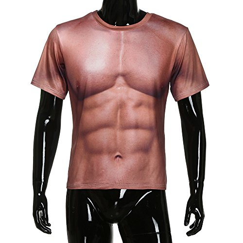 Printed Marron Manche Compression Tank 3d Tops Amlaiworld Muscle shirt T Slim Body Shaper Courte Casual Blouse Homme xnB4wqfgP