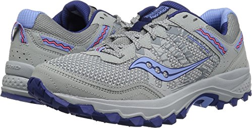 Saucony Women's Excursion TR12 Sneaker, Grey/Blue, 8.5 M US by Saucony