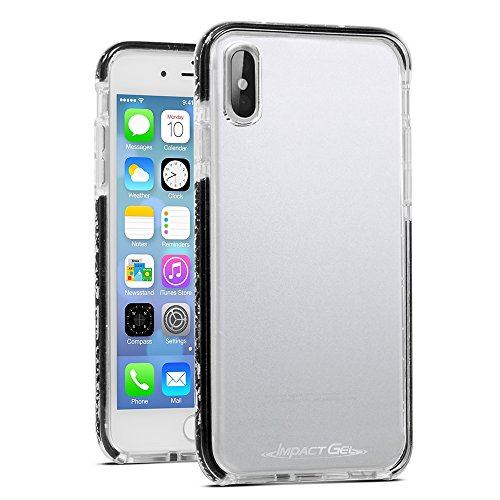 Impact Gel Crusader Lite Series Case for Apple iPhone X - Clear/Black