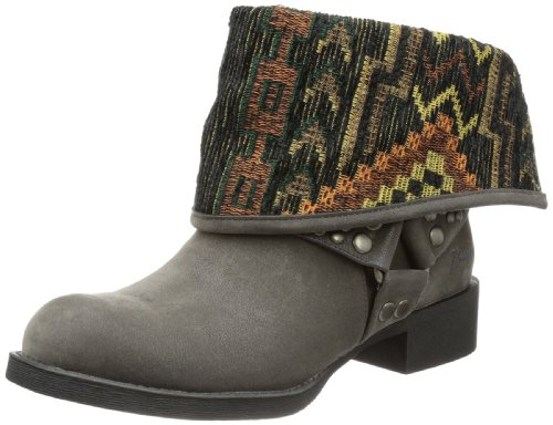 Blowfish Kenessa Biker Boot Mid, Women's Biker Boots Gray - Grau (Grey Fawn Pu Bf235)