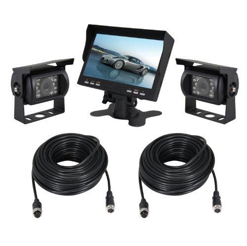 Esky 7-Inch TFT LCD Color Monitor Car Backup Rear View Camera System (Night Vision, Side Camera) [並行輸入品] B01NCRI8QB