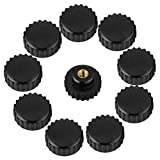 Star Knob, Plastic Thread Star Head Clamping Knob Handle, M6x25mm Star Knob Thru Hole for Machine Tool, Lathe Knob Star Nuts Knob, Black, 10Pcs
