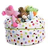 SMART WALLABY Jumbo Storage Bean Bag Chair for Soft Toys, Stuffed Animals, Clothes, Linens and Blankets (White, Green, red, Blue, Purple, Yellow, Orange, Pink, Scarlet)