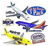 Daron Southwest, JetBlue & Spirit Airlines Die-cast Planes 'Matty's Toy Stop' Exclusive Gift Set Bundle - 3 Pack