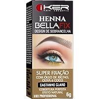 Henna Bellafix - Castanho Claro 6G., Iker Hair Cosmetic