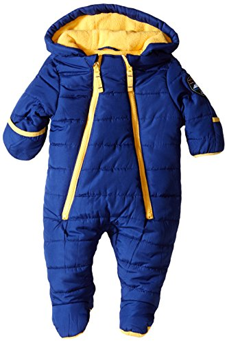 Weatherproof Baby-Boys Newborn Double-Zipper Puffer Pram Bodysuit