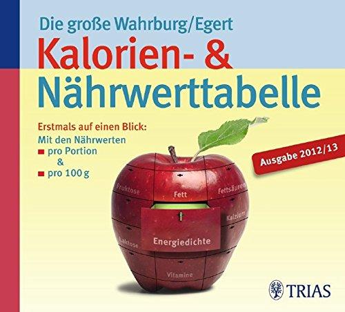 Die große Wahrburg/Egert Kalorien-&-Nährwerttabelle: Erstmals auf einen Blick: Mit den Nährwerten pro Portion & pro 100 g Broschiert – 24. August 2011 Sarah Egert Ursel Wahrburg TRIAS 3830460678