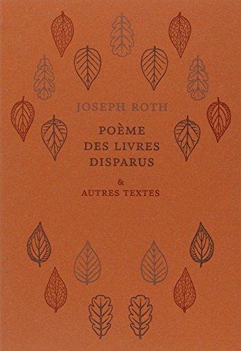 Poème des livres disparus & autres textes