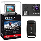 AKASO V50 Native 4K/30fps 20MP WiFi Action Camera with EIS, Ultra HD 30m Waterproof Camera with Remote Control, 170 Degree Wide Angle, 2 Rechargeable Batteries and Mounting Accessories Kit