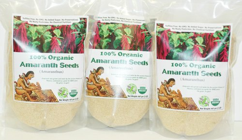 Indus Organics Amaranth Seeds, (3 Bags of 2 Lb), Sulfite Free, No Added Sugar, Premium Grade, High Purity, Freshly Packed