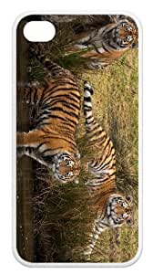 Back Case Durable Tiger Case For iPhone 4,4s