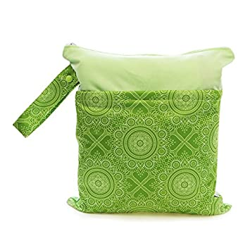 Grab and Go Waterproof Washable Reusable Diaper Wet Dry Cloth Diaper Bags,Funny Circus