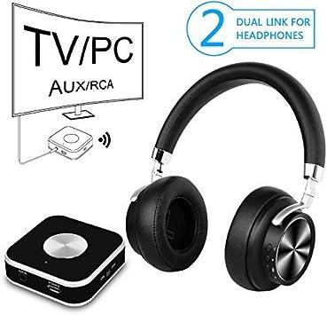 Auriculares Inalambrico TV con 2.4GHz Transmisor y Port Optico, Auricular De Diadema para Television: Amazon.es: Electrónica