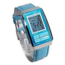 Casio #LA201WBL-2A Women's Futurist Leather Band Alarm Chronograph Digital Watch
