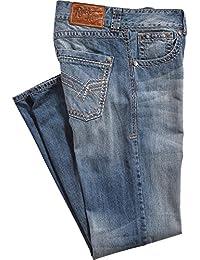 Men's Rock 47 Relaxed Medium Dark Stonewash Jeans Boot Cut - Mrrb7vl