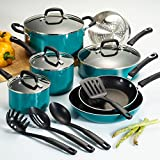 15-Piece Heat and Shatter Resistant Blue Nonstick Cookware Set