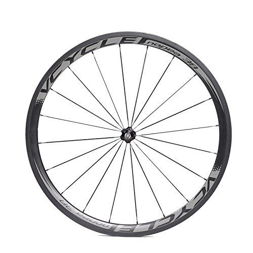 VCYCLE Nopea 700C 38mm Fibra de Carbono Bicicleta Ruedas Remachador 23mm Ancho Shimano o Sram 8/9/10/11 Velocidades: Amazon.es: Deportes y aire libre