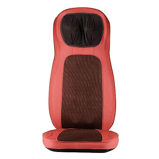 Masajeador de cuello y espalda con cojín de masaje eléctrico ...