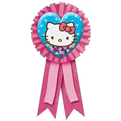 e287f26a1 Amazon.com: Amscan Confetti Pouch Award Ribbon | Hello Kitty ...