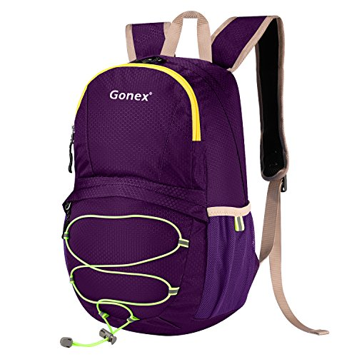 [Gonex Packable Backpack, Collapsible Hiking Travel Backpack for Children(Purple)] (Hiking Travel Backpack)