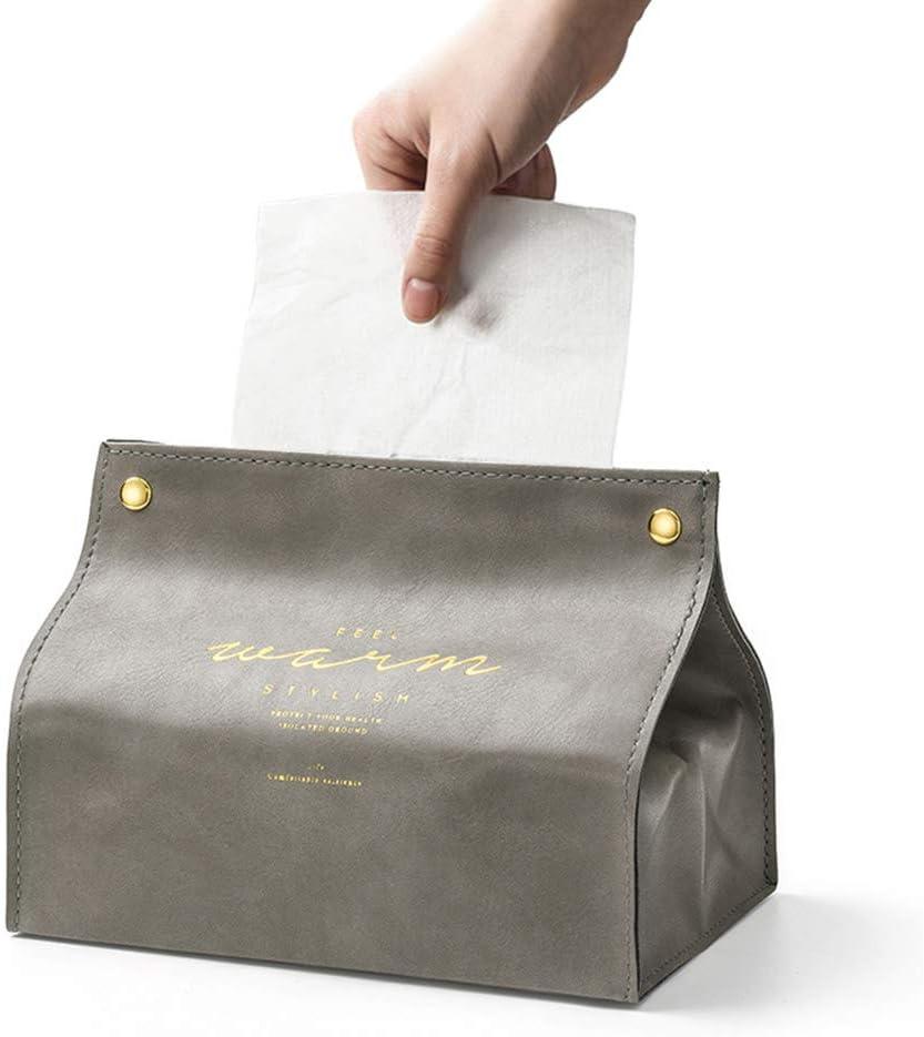 Gris Bain Kleenex Napkin Holder pour Salle de Bain Vanit/é Table /à Manger Cuisine Comptoirs X-BLTU Support de Couverture de Support de Bo/îte /à Mouchoirs en Cuir Triangle