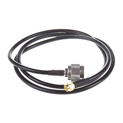 SODIAL(R) Cable Pigtail Antena Conector N Macho a RP-SMA Macho 1M
