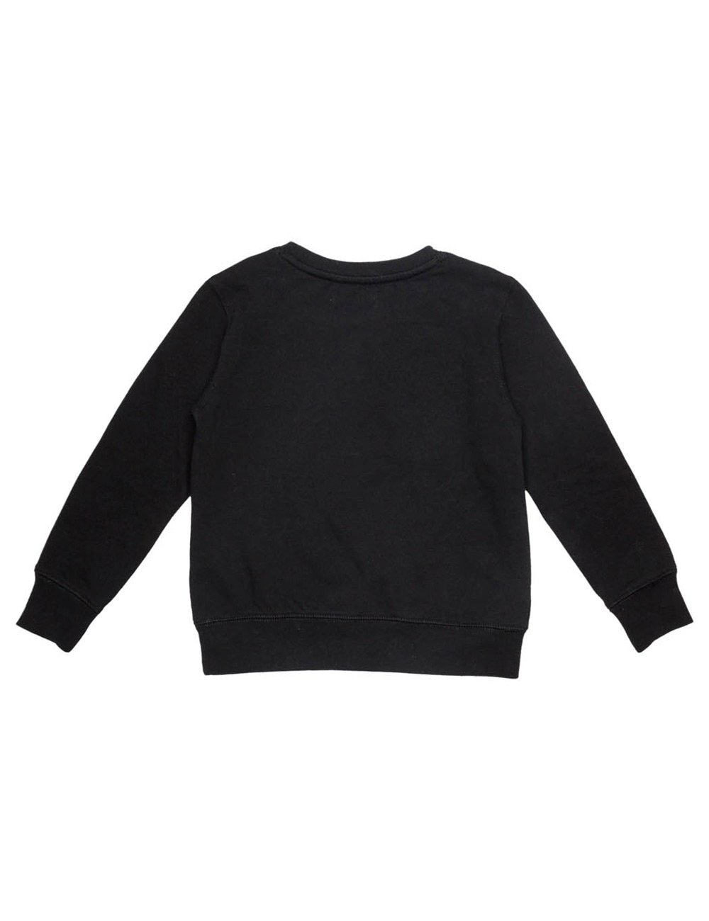 REPLAY Girls Black Sweater With Print and Faux Fur Detail In Size 8 Years Black