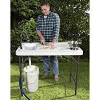 Kotulas Fish Cleaning Camp Table with Flexible Faucet