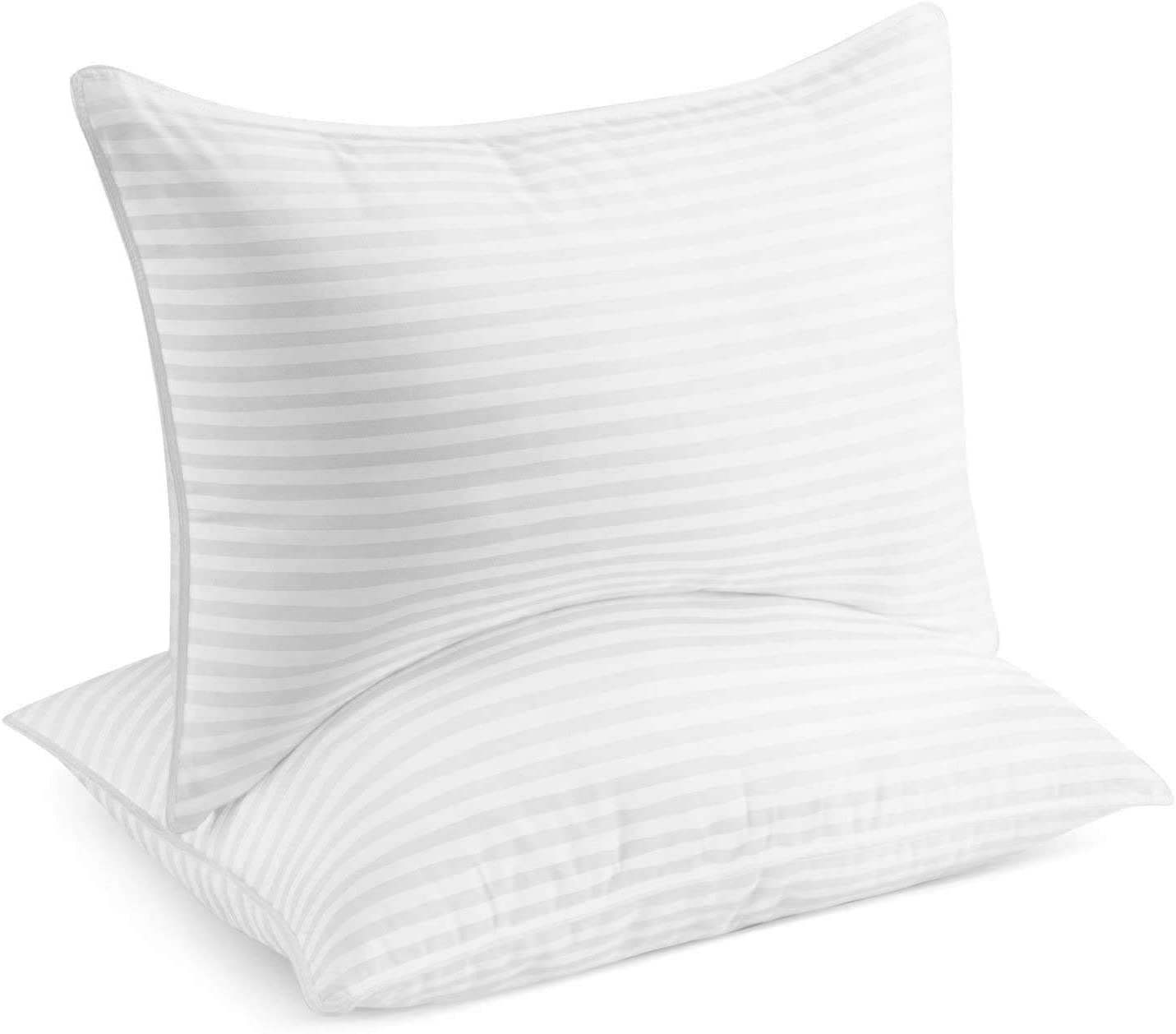 Beckham Hotel Collection Gel Pillow (2-Pack) - Luxury Plush Gel Pillow - Dust Mite Resistant & Hypoallergenic - Queen: Home & Kitchen