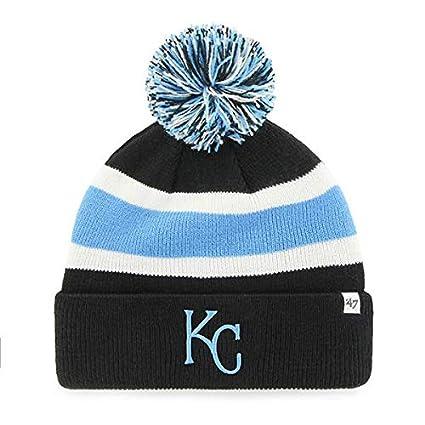 e320b28d5e3  47 Kansas City Royals Black Cuff Breakaway Beanie Hat with Pom Pom - MLB  Cuffed