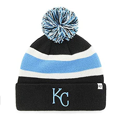 9a20ff4c63cb1  47 Kansas City Royals Black Cuff Breakaway Beanie Hat with Pom Pom - MLB  Cuffed