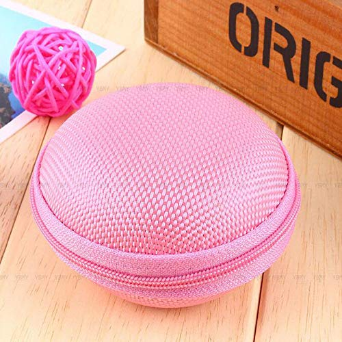 Portable Key Headsets Headphone Earphone Coin Bag Wallet Purse Hand Bag Package (Color - Pink)