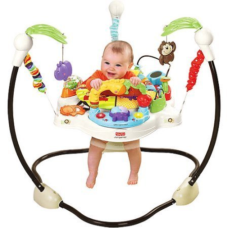 Fisher-Price - Luv U Zoo Jumperoo Removable Seat For Easy Cleaning