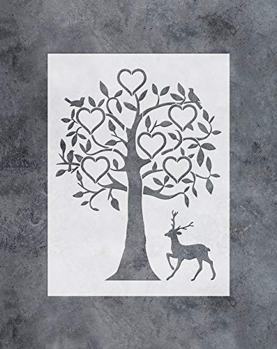 GSS Designs Family Tree Decor Stencil -6 Large Photo Picture Frames Stencil (12x16 Inch) for Painting & Craft - Living Room, Bedroom, Kids Rooms, Mural Decor-(SL-036)
