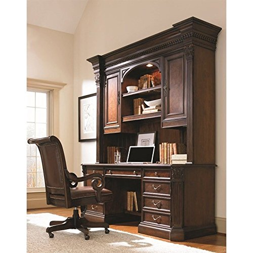 Cherry 466 - Hooker Furniture European Renaissance II Computer Desk Unit in Cherry