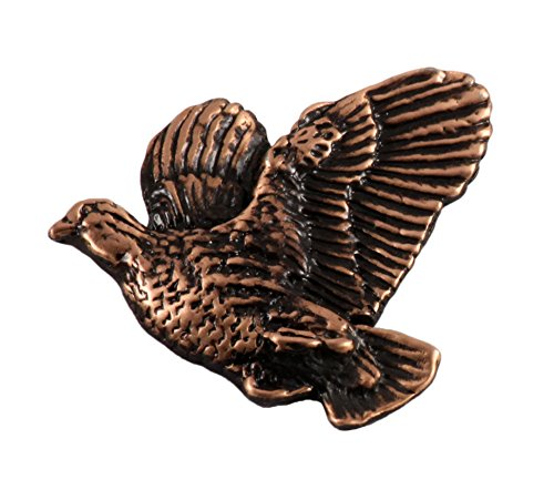 - Creative Pewter Designs Bobwhite Quail Flying Left Bird Copper Plated Lapel Pin, Brooch, Jewelry, BC033