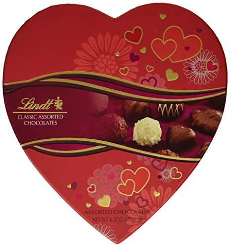Lindt Valentine Gift Box, Classic Assorted Chocolates, 6.2 Ounce