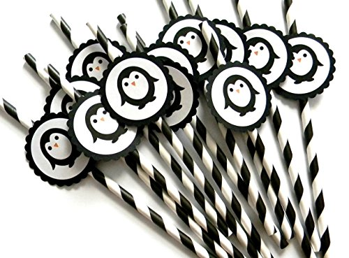 Penguin Party Straws - Set of 12 ()