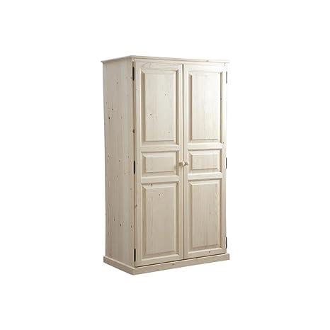 Aubry Gaspard - Armadio a 2 ante in legno grezzo, dimensioni: 56 x ...