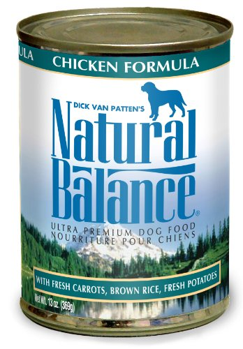 Natural Balance Chicken Brown Rice Formula Dog Food (Pack of 12 13-Ounce Cans), My Pet Supplies