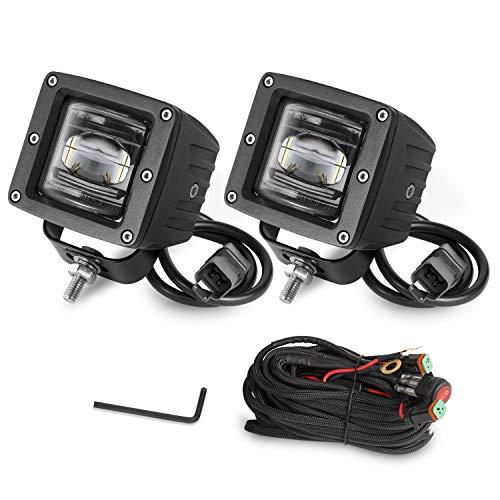 "LED Pod Lights, Auto Power Plus 2pcs 3"" SAE LED Fog Lights OSRAM Off Road Driving Lights Waterproof LED Cubes Square LED Work Light For Truck Jeep Motorcycle ATV UTV Boat, 3 Year Warranty"
