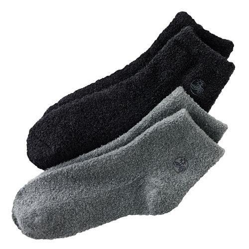 Therapeutics Spa - Earth Therapeutics Aloe Socks, 2 Pair Per Package (Black and Gray)