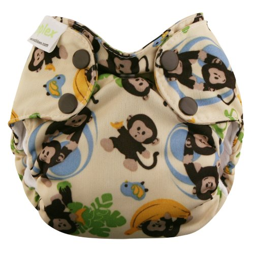 Blueberry Basix All in One Diapers, Monkeys, Newborn