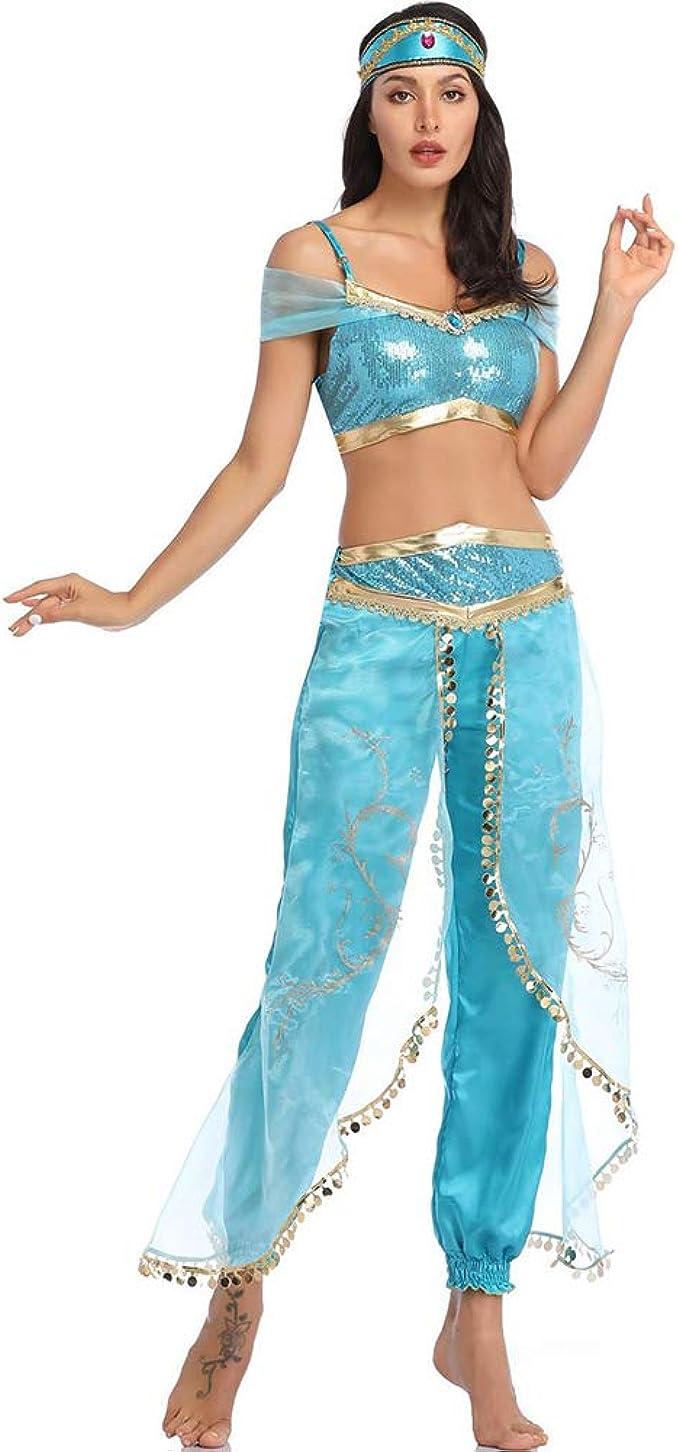 SC Disfraz De Cosplay De Halloween Aladdin Jasmine Princess Dress ...